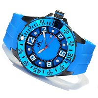Adee Kaye Men's plastic case/silicon strap watch