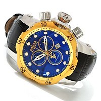 INVICTA RESERVE MID VENOM SWISS QUARTZ CHRONOGRAPH LEATHER STRAP WATCH