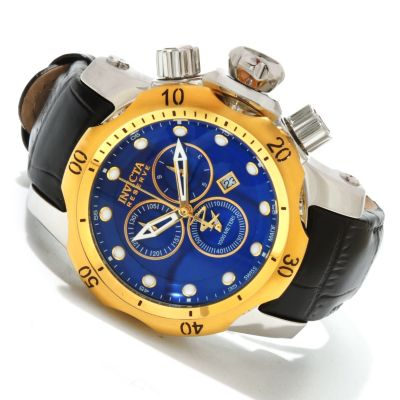 617-877 - Invicta Reserve Mid-Size Venom Swiss Made Quartz Chronograph Leather Strap Watch