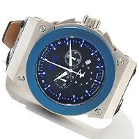 INVICTA RESERVE MEN'S AKULA SWISS CHRONOGRAPH LEATHER STRAP WATCH