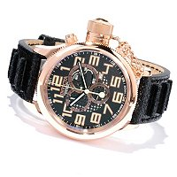 INVICTA RUSSIAN DIVER QUARTZ CHRONOGRAP DISTRESSED GENUINE LEATHER STRAP