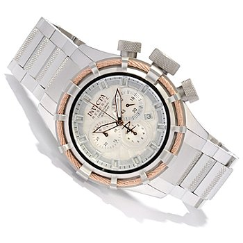 617-889 - Invicta Reserve Men's Bolt Swiss Made Quartz Chronograph Stainless Steel Bracelet Watch