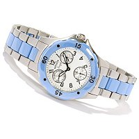 INVICTA WOMENS CLASSIC ANGEL MULITFUCTION CERAMIC STAINLESS BRACELET WATCH