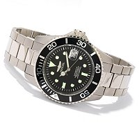 INVICTA MEN'S PRO DIVER TITANIUM AUTOMATIC BRACELET WATCH W 3 SLOT DIVE CASE