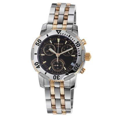 617-904 - Tissot Men's PR-100 Swiss Made Quartz Chronograph Two-tone Bracelet Watch