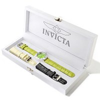INVICTA WOMEN'S PRO DIVER CERAMIC CASE INTERCHANGEABLE 3PC LEATHER STRAP SET