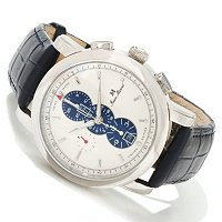 JEAN MARCEL MEN'S CLARUS SWISS MADE AUTOMATIC CHRONO CROCO LEATHER STRAP WATCH
