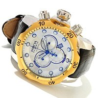 INVICTA RESERVE MEN'S VENOM ELEGANT SWISS CHRONO LEATHER STRAP WATCH