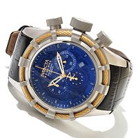 INVICTA RESERVE BOLT SPORT ELEGANT SWISS CHRONO LEATHER STRAP WATCH