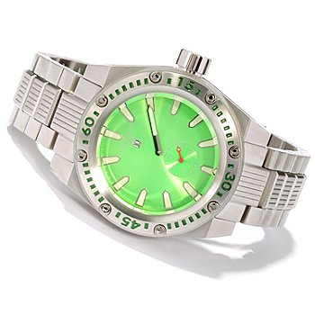 618-029 - Android Men's Powerjet Jumping Hour Automatic Stainless Steel Bracelet Watch