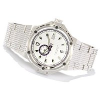 Android Men's Emprise Stainless Steel Military Time Automatic Bracelet Watch