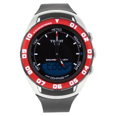618-159 - Tissot Men's Sailing Touch Swiss Quartz Rubber Strap Watch