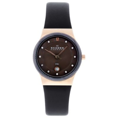618-209 - Skagen Women's Classic Quartz Leather Strap Watch