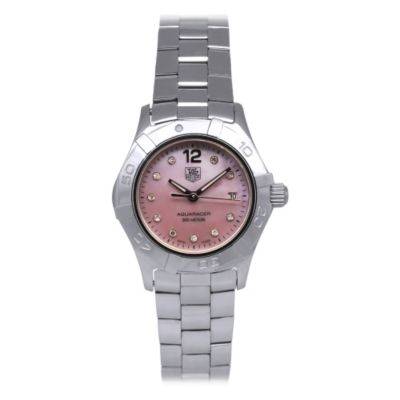 618-227 - Tag Heuer Women's Aquaracer Swiss Quartz Mother-of-Pearl Dial Stainless Steel Bracelet Watch