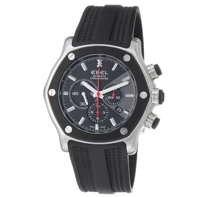618-282 - Ebel Men's Tekton Swiss Made Automatic Chronograph Rubber Strap Watch