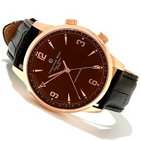 TTV CONSTANTIN WEISZ MEN'S 'PRESIDEN'TS WATCH' MECHANICAL ALARM STRAP WATCH