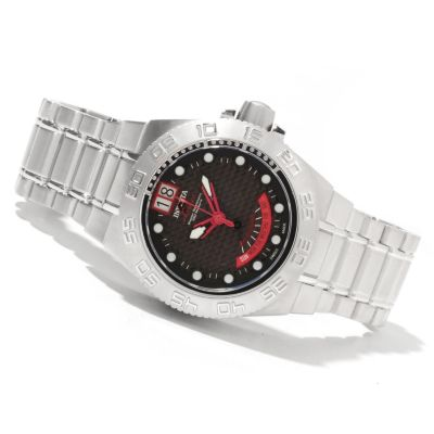 618-354 - Invicta Mid-size Subaqua Sport Swiss Made Quartz Carbon Fiber Dial Stainless Steel Bracelet Watch