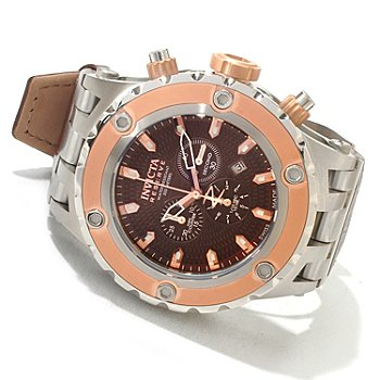 618-367 - Invicta Reserve Men's Specialty Subaqua Elegant Swiss Chronograph Leather Strap Watch