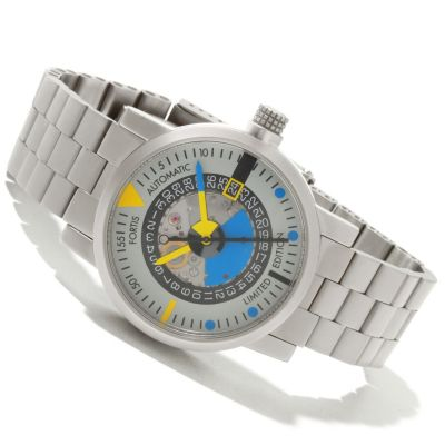 618-424 - Fortis Men's Mattern Limited Edition Swiss Made Automatic Stainless Steel Bracelet Watch