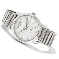 Jean Marcel Men's Clarus Swiss Made Automatic Ltd Ed Mesh Bracelet Watch