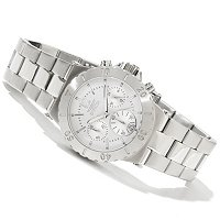 INVICTA WOMEN'S ELEGANT OCEAN QUARTZ CHRONO STAINLESS BRACELET WATCH