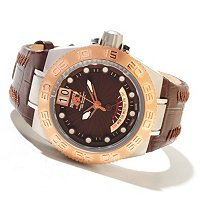 INVICTA SUBAQUA SPORT ELEGANT QUARTZ DAY RETRO CARBON FIBER LEATHER STRAP WATCH