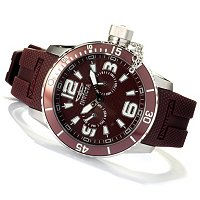 INVICTA MEN'S DIVER CORDUBA QUARTZ DAY & DATE POLYURETHANE STRAP WATCH