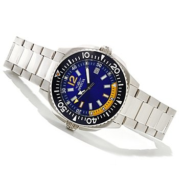 618-533 - Invicta Men's Specialty Flight Collection Quartz Stainless Steel Bracelet Watch w/ 3-Slot Dive Case
