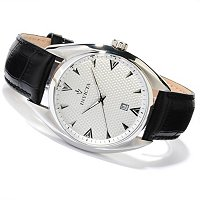INVICTA MEN'S VINTAGE QUARTZ MOVEMENT LEATHER STRAP WATCH
