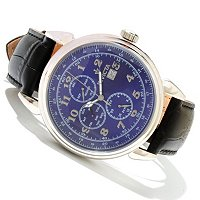 INVICTA MEN'S VINTAGE QUARTZ MASTER CALENDAR LEATHER STRAP WATCH
