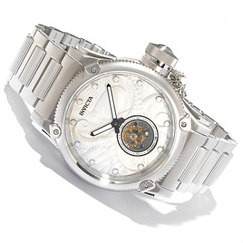 618-569 - Invicta Men's Russian Diver Octopus Limited Edition Mechanical Tourbillon Bracelet Watch