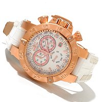 INVICTA WOMEN'S SUBAQUA MONA III QUARTZ CHRONO LEATHER STRAP WATCH