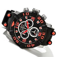INVICTA MEN'S SEA HUNTER II SWISS QUARTZ CHRONO CARBON FIBER DIAL PU STRAP WATCH