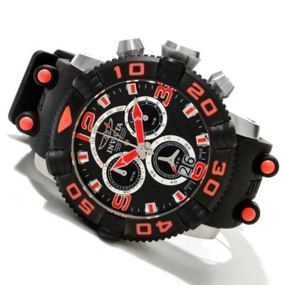618-571 - Invicta Men's Sea Hunter II Swiss Quartz Chronograph Polyurethane Strap Watch