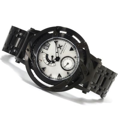 618-607 - XO Skeleton Men's Barracuda Limited Edition Swiss Quartz Stainless Steel Bracelet Watch