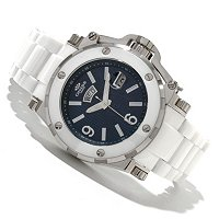 Oniss Men's Stainless Steel & Ceramic Day/Date Bracelet Watch