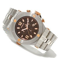 RENATO MEN'S WILDE BEAST SWISS BRACELET WATCH