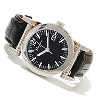 Ferragamo Men's Salvatore Quartz Leather Strap Watch