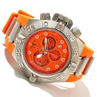 INVICTA MEN'S SUBAQUA NOMA IV SWISS QUARTZ CHRONO POLYURETHANE STRAP WATCH W/ DC