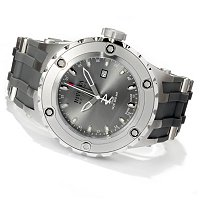 INVICTA RESERVE MENS SPECIALTY SUBAQUA SWISS QUARTZ GMT PU STRAP WATCH W/ DC