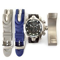 INVICTA RESERVE MEN'S VENOM OCEAN QUEST II 3PC INTERCH WATCH W/ CLOCK STAND