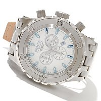 INVICTA RESERVE MENS SPECIALTY SUBAQUA SWISS QUARTZ CRHONO LEATHER STRAP WATCH