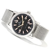 Jean Marcel Men's Clarus Swiss Ltd Ed Automatic Milanaise Mesh Bracelet Watch