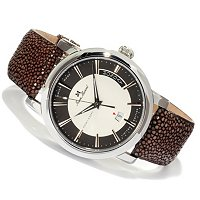 Jean Marcel Men's Clarus Swiss Made Automatic Ltd Ed Stingray Strap Watch