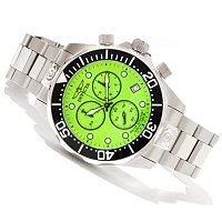 INVICTA MEN'S GRAND DIVER SWISS QUARTZ CHRONO LUME DIAL STAINLESS BRACELET WATCH