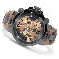 INVICTA MEN'S COALITION FORCE TRIGGER SWISS CHRONO CAMO DIAL PU STRAP WATCH