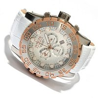 INVICTA RESERVE MEN'S LEVIATHAN EVOLUTION SWISS CHRONO LEATHER STRAP WATCH