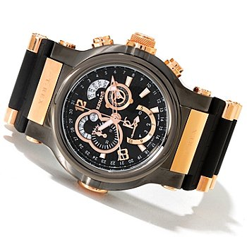 618-836 - Renato Men's T-Rex Limited Edition Swiss Quartz Chronograph Rubber Strap Watch