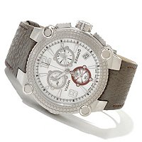 RENATO MEN'S VULCAN CHRONOGRAPH SHARKSKIN STRAP WATCH
