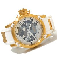 INVICTA MEN'S RUSSIAN DIVER ANNIV EDITION CAMO DIAL PU STRAP WATCH